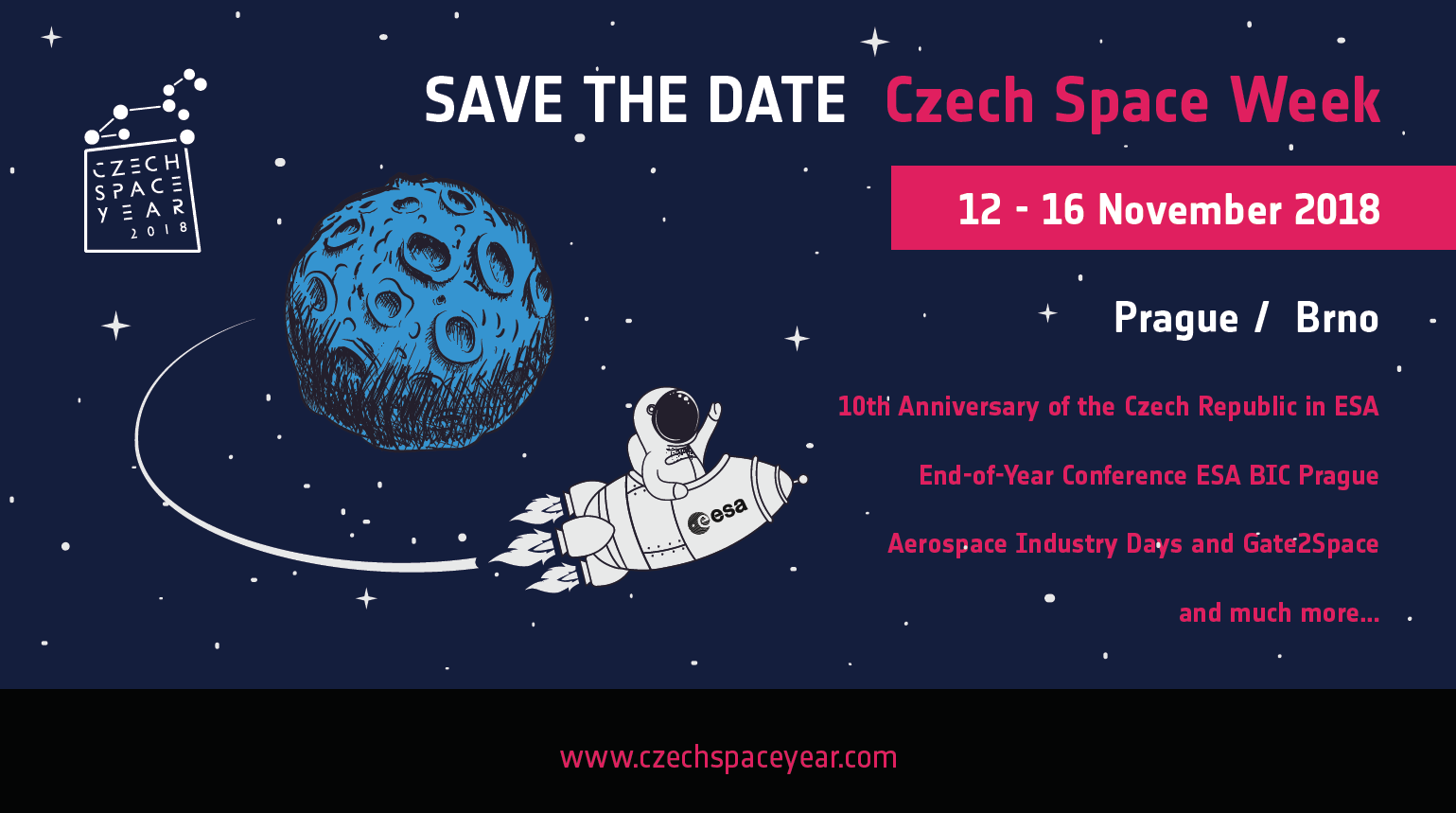 Save the date - Czech space week - Czech space year 2018